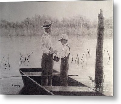 Fishin' Buddies Metal Print