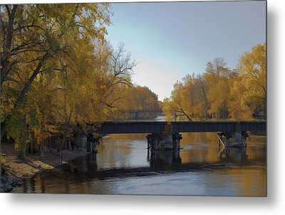 Fishin By The Old  Tracks Metal Print by John Crothers
