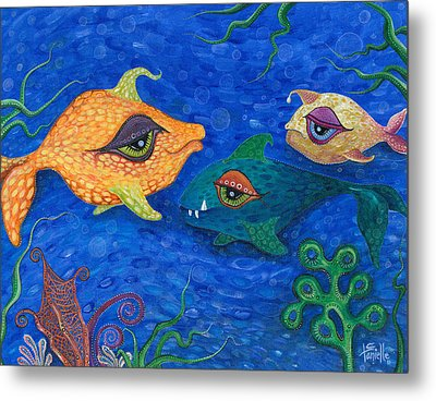 Fishin' For Smiles Metal Print by Tanielle Childers