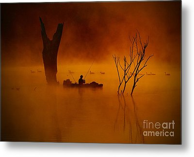 Fishing Among Nature Metal Print by Elizabeth Winter