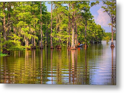 Fishing At The Bayou Metal Print by Ester  Rogers