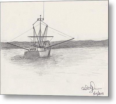 Fishing Boat Metal Print by David Jackson