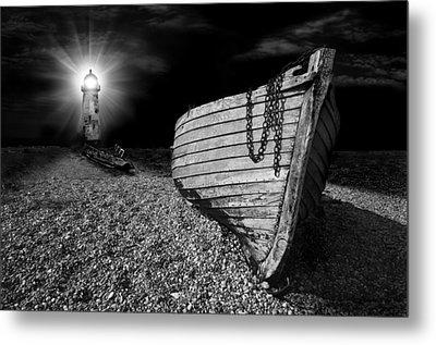 Fishing Boat Graveyard 5 Metal Print by Meirion Matthias
