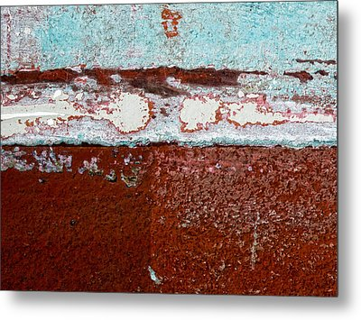 Fishing Boat Hull Metal Print by Carol Leigh