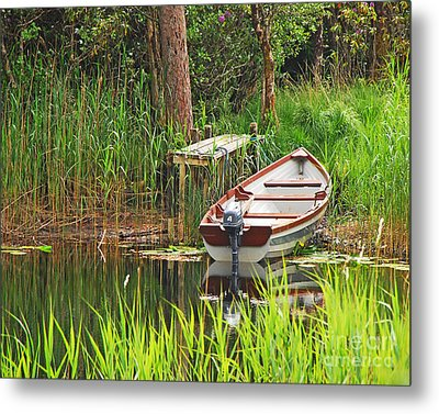 Fishing Boat Metal Print by Mary Carol Story