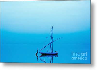 Metal Print featuring the photograph Fishing Boat  by Mohamed Elkhamisy