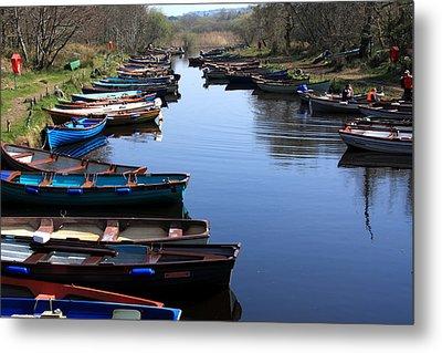 Fishing Boat Row Metal Print by Aidan Moran