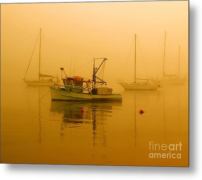 Metal Print featuring the photograph Fishing Boat by Trena Mara