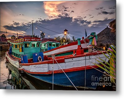 Fishing Boat V2 Metal Print by Adrian Evans
