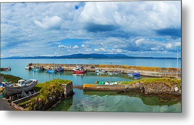 Fishing Boats At A Harbor, Helvick Metal Print