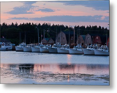 Fishing Boats At Malpeque Harbour Metal Print