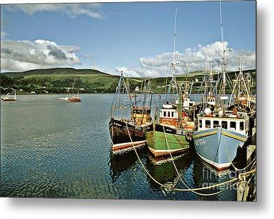 Fishing Boats At Uig Skye Scotland 1994 Metal Print by David Davies