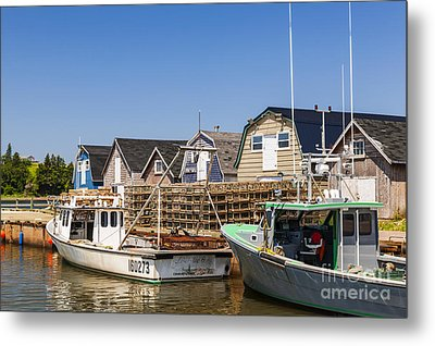 Fishing Boats Docked In Prince Edward Island  Metal Print by Elena Elisseeva