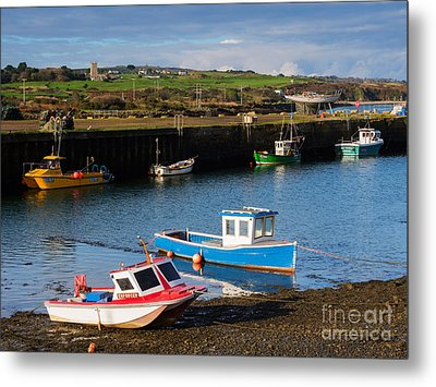 Fishing Boats In The Harbour At Hayle Metal Print by Louise Heusinkveld