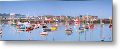 Fishing Boats In The Howth Marina Metal Print