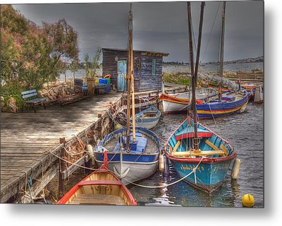 Fishing Boats Metal Print by Rod Jones