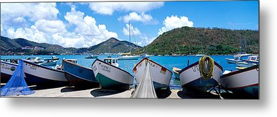 Fishing Boats St Thomas Us Virgin Metal Print