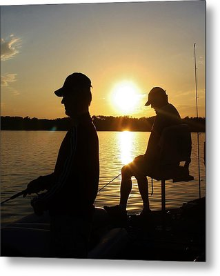Fishing Buddies Metal Print by Bruce Bley