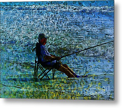 Fishing Metal Print by Claire Bull