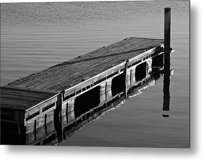 Fishing Dock Metal Print by Frozen in Time Fine Art Photography