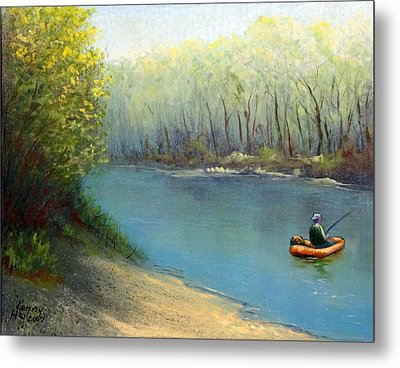 Metal Print featuring the mixed media Fishing Float by Kenny Henson