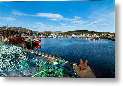 Fishing Harbor, Dingle Harbour, Dingle Metal Print