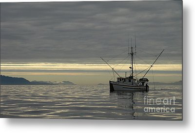 Metal Print featuring the photograph Fishing In Alaska by Laura  Wong-Rose