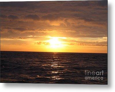 Fishing Into The Sunrise Metal Print