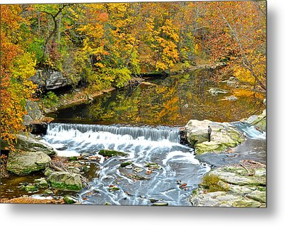 Fishing Is Relaxing Metal Print by Frozen in Time Fine Art Photography