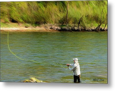 Fishing Lake Taneycomo Metal Print by Jeffrey Kolker