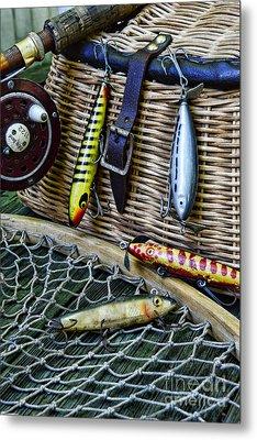 Fishing - Lots Of Gear Metal Print by Paul Ward