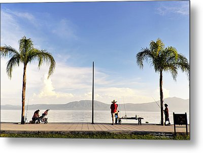 Metal Print featuring the photograph Fishing On Lake Chapala by David Perry Lawrence