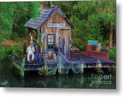 Fishing On The Bayou Metal Print by Lee Dos Santos