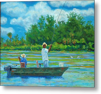 Fishing On The Cooper Metal Print by Dwain Ray