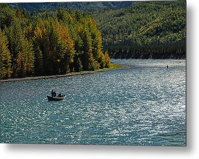Fishing On The Kenai River Metal Print by Dyle   Warren