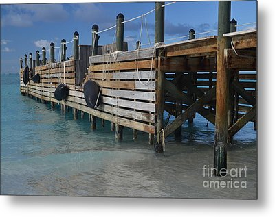 Metal Print featuring the photograph Fishing Pier by Judy Wolinsky