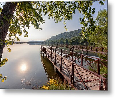 Metal Print featuring the photograph Fishing Pier Morning by Kari Yearous