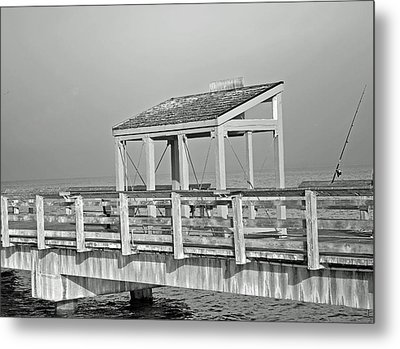 Metal Print featuring the photograph Fishing Pier by Tikvah's Hope