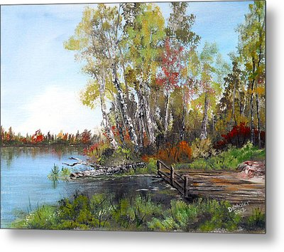 Fishing Spot Metal Print by Dorothy Maier