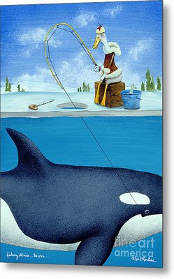 Fishing Stories ... The Orca .. Metal Print by Will Bullas