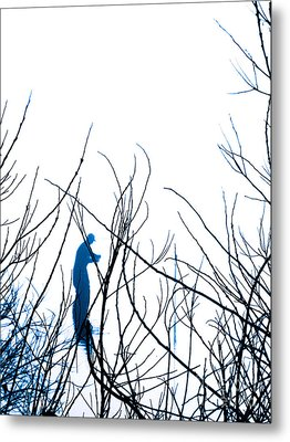 Metal Print featuring the photograph Fishing The River Blue by Robyn King