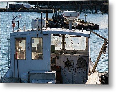 Fishing Trawler At Harbor, Lobster Metal Print by Panoramic Images