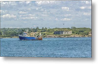 Metal Print featuring the photograph Fishing Trawler Coming Into Port by Jane Luxton