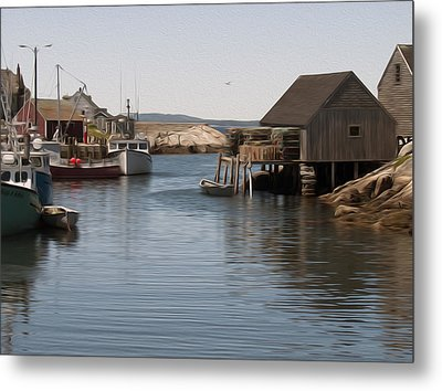Metal Print featuring the digital art Fishing Village by Kelvin Booker