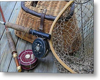 Fishing - Vintage Fishing  Metal Print