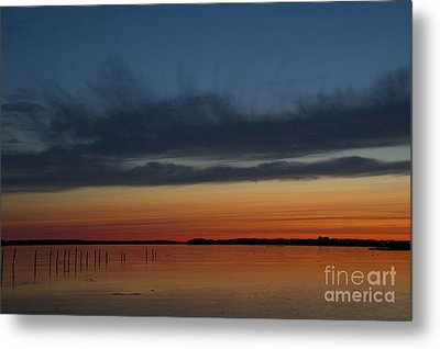 Fishing Weirs  Metal Print by Alana Ranney