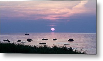 Fishing With Fire Metal Print by Dan Comeau
