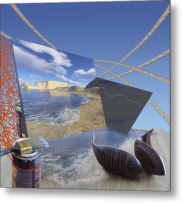 Fishing With Paint Metal Print by Jennifer Kathleen Phillips