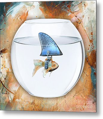 Fishy Story Metal Print by Marvin Blaine