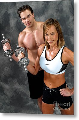 Fitness Couple 17-2 Metal Print by Gary Gingrich Galleries